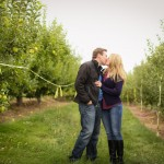 Kissing in the apple orchard